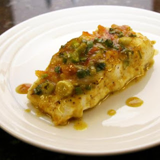 Baked Halibut Fillets With Green Onion Curry Topping
