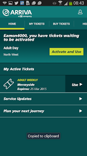 Arriva m-ticket- screenshot thumbnail
