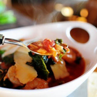 Tuscan Bean Soup with Shrimp.