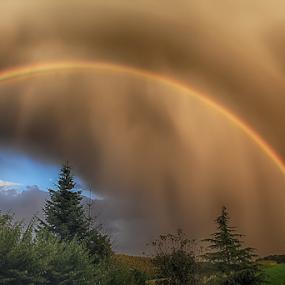 dramatic nature by  pemavis Photography - Landscapes Weather ( thunderstorm, rainbow )