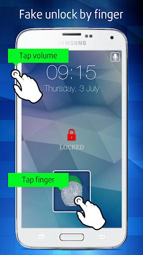 Fake Fingerprint Lock Screen