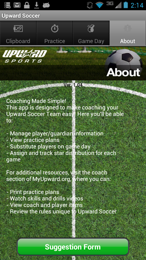 Upward Soccer Coach- screenshot