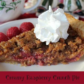 Creamy Raspberry Crunch Pie