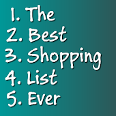 Shopping List 2014