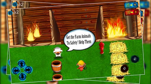 Farm Animal Firefighter Escape