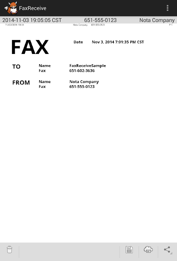 FaxReceive - receive fax phone- screenshot