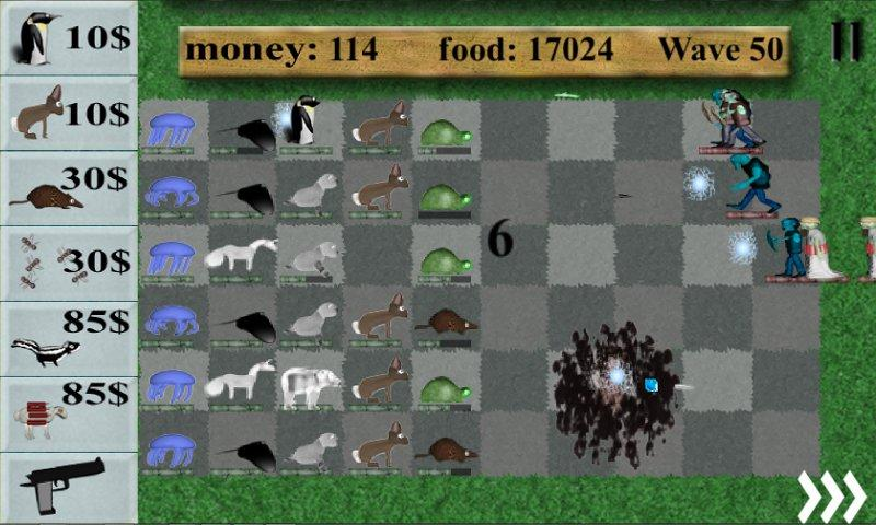 Animals vs. zombies - screenshot