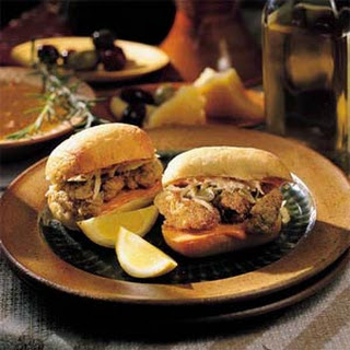 Dressed Mini Oyster Po'boys