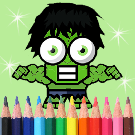 Coloring Green Giant For KIDS