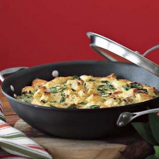 Strata with Cipollini Onions & Arugula
