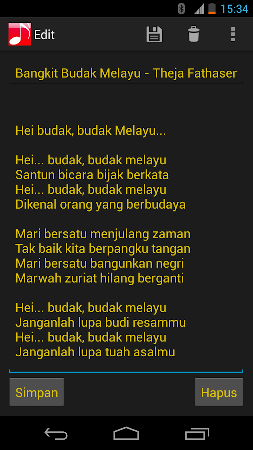 Lirik Lagu - screenshot