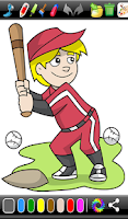 Screenshot of Sports Coloring Game