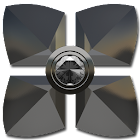 Next Launcher theme Silver Dia icon