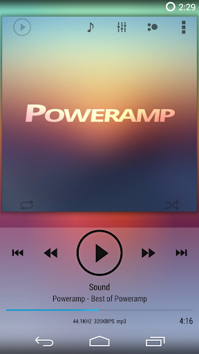 Poweramp skin KK ICS JB Light