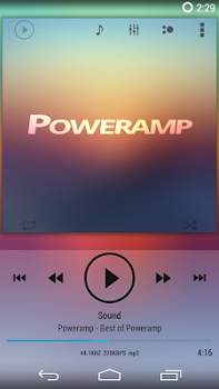 Skin for Poweramp KK Light