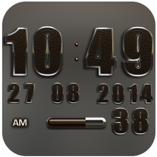 Digi Clock Widget Brown Elepla
