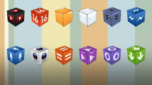 3D Cube Icons APEX/NOVA/GO/ADW for Android | 512 x 286 jpeg 31kB