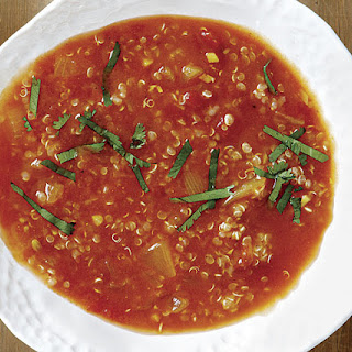 Curried Tomato Soup with Fragrant Quinoa.