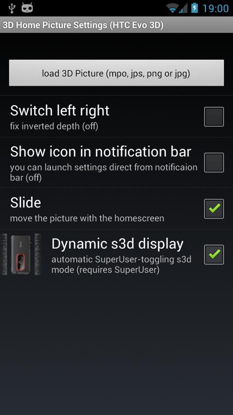 3D Home Picture (HTC Evo 3D) - screenshot