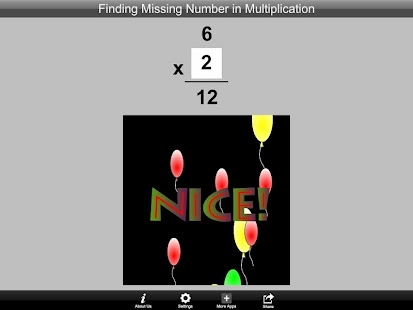 Finding Number Multiplication- screenshot thumbnail