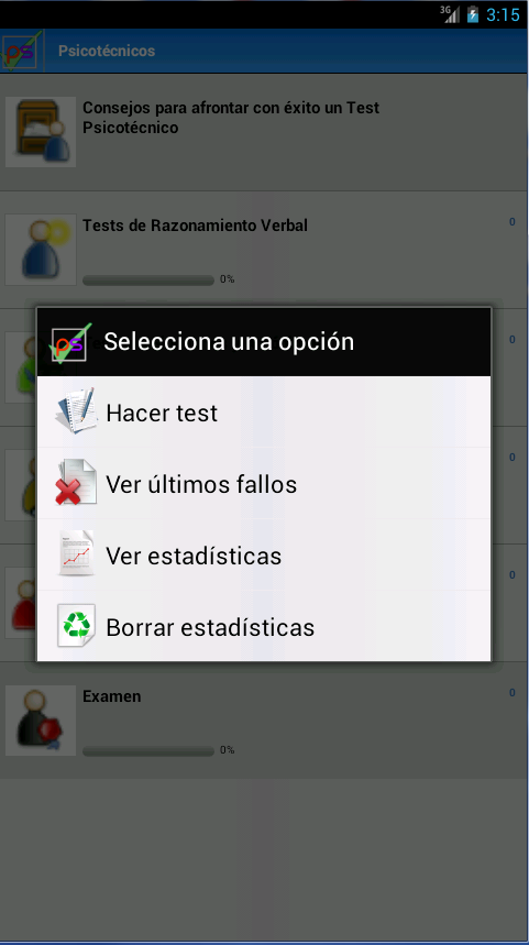 Psicotécnicos. Tests- screenshot