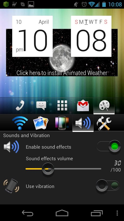 aShell Launcher Homescreen- screenshot