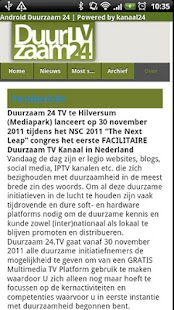 Duurzaam24 - screenshot thumbnail