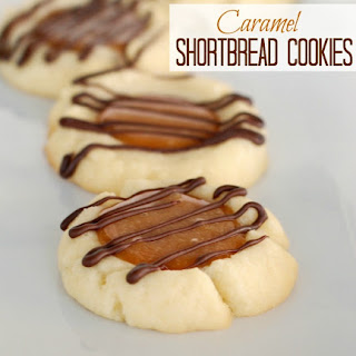 Caramel Shortbread Cookies with Chocolate Drizzle Recipe