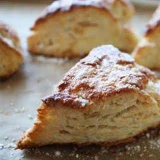 Lemon Ginger Scones with Brown Rice Flour and Agave Nectar.