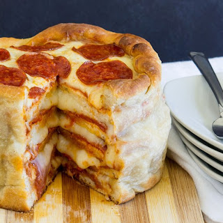 Pepperoni Pizza Cake