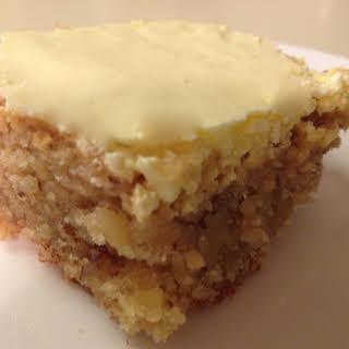 Walnut Cake with Egg Yolk Glaze.