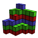 Count Cubes 3D. makes brain up icon