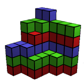 Count Cubes 3D. makes brain up