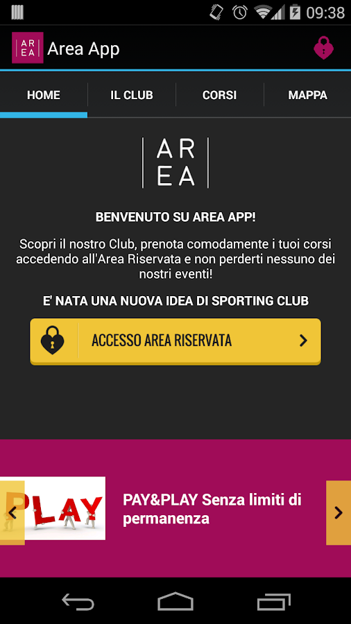 Area App- screenshot