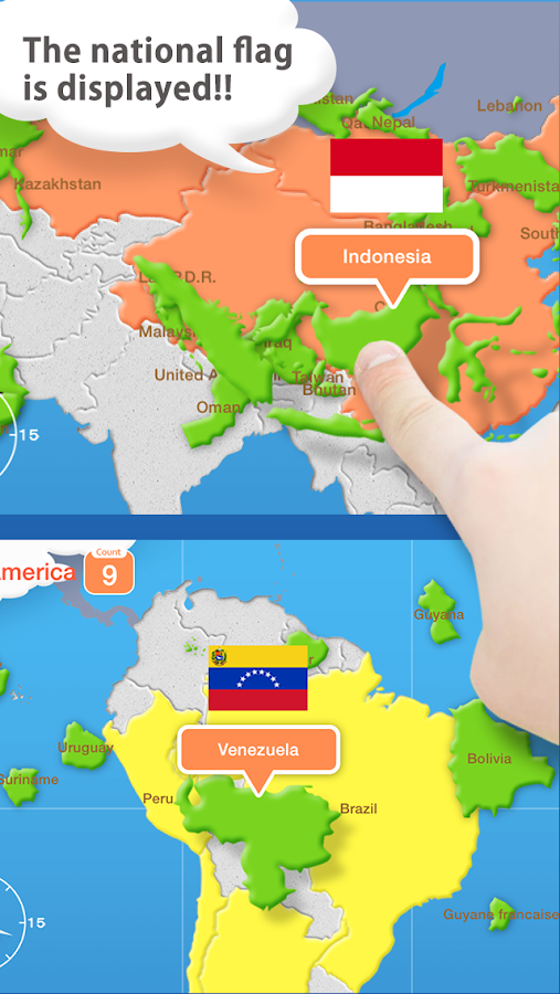 World Map Puzzle for Kids- screenshot