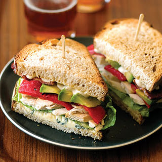 Chicken, Bacon, and Blue-Cheese Sandwiches.
