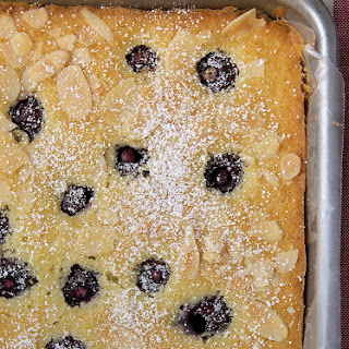 Cherry Almond Sheet Cake