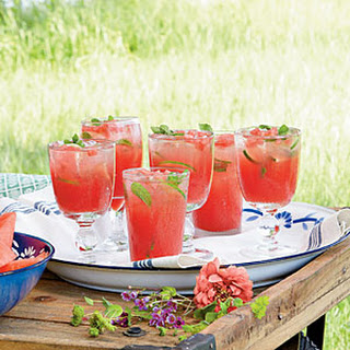 Honeysuckle-Watermelon Cocktails.