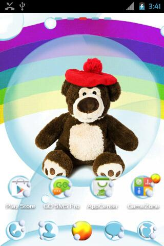 GO Launcher EX Cute Teddy Bear - screenshot