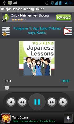 Belajar Bahasa Jepang - screenshot