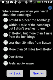 Boston Bombings Survey- screenshot thumbnail