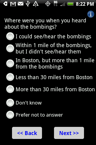 Boston Bombings Survey - screenshot