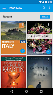 Google Play Books: miniatura de captura de pantalla