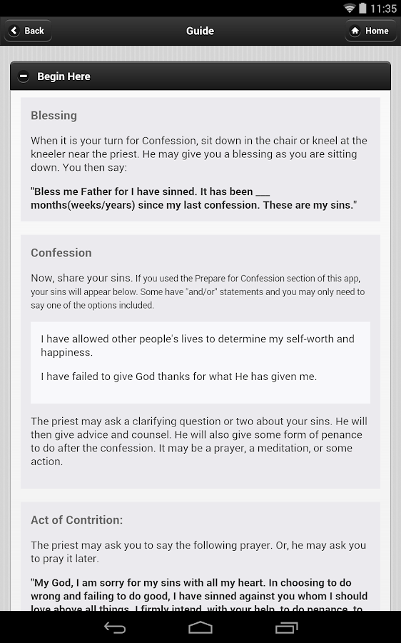 Confession App: Catholic - screenshot