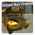School Bus License 3D icon