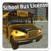 School Bus License 3D