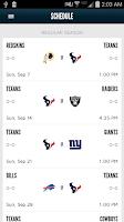 Screenshot of Houston Texans Mobile App