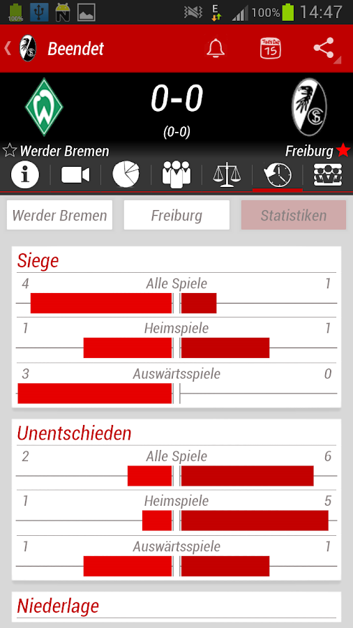SC Freiburg App - screenshot