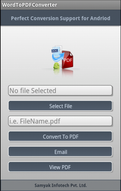 Doc to PDF Converter - screenshot