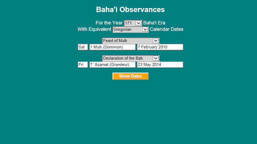 Baha'i Observances